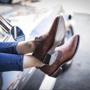 Frye Brown Billy Shootie - Western Leather Booties
